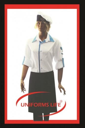 Gömlek Yaka Bayan Aşçı Takım