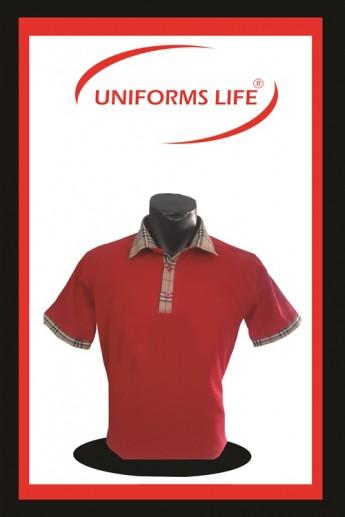 Kırmızı Gömlek Yaka Lacost