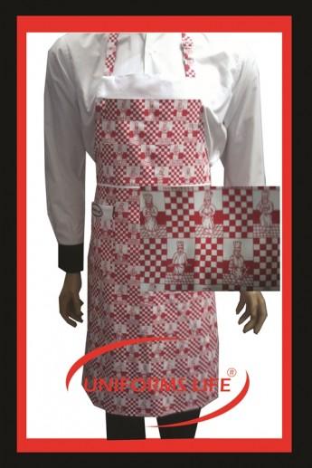 Aşçı Desenli Askılı Önlük