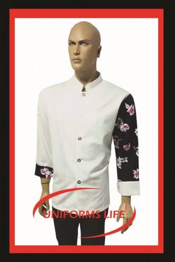 Kolu Desenli Chef Ceket