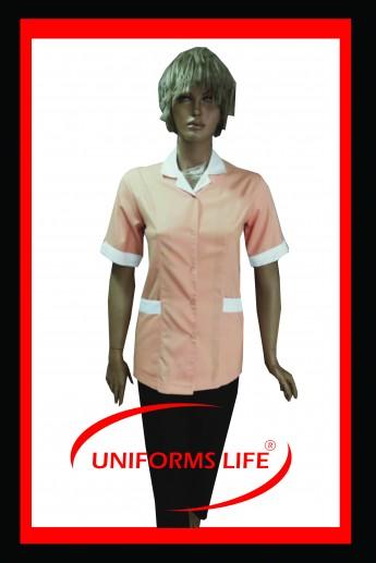 Somon-Beyaz Bayan Housekeeping Takım