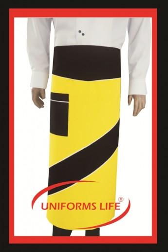Sarı - Siyah Tasarım Önlük