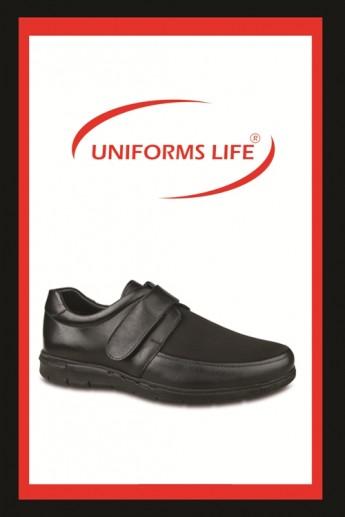Ceyo Siyah Deri Ayakkabı