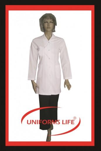 Beyaz Bayan Spa İş Gömleği