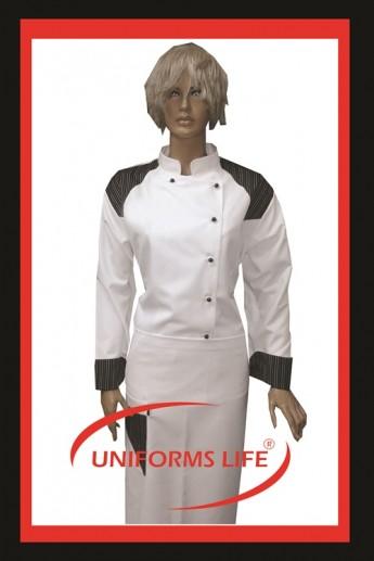 Beyaz Bayan Aşçı Takım